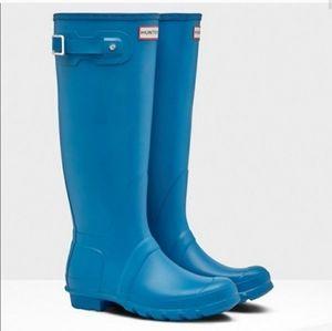 Hunter tall ocean rain boot used sz 7 U S